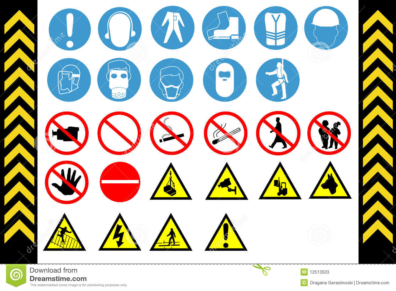 Assembly Point And First Aid Signs Vector Stock Vector