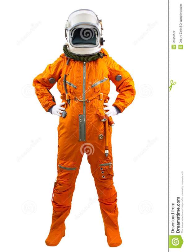 Astronaut Isolated On A White Background. Stock Image ...