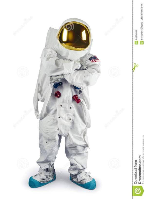Astronaut Standing On A White Background Stock Image ...