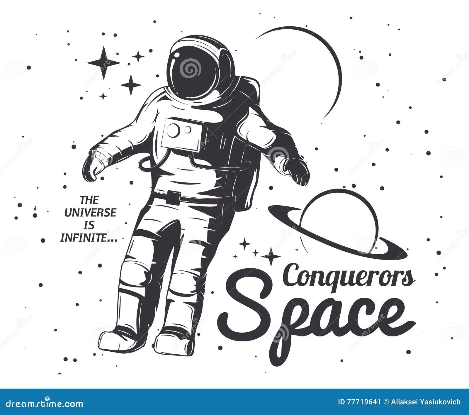 Astronaut Vector Illustration Stock Vector