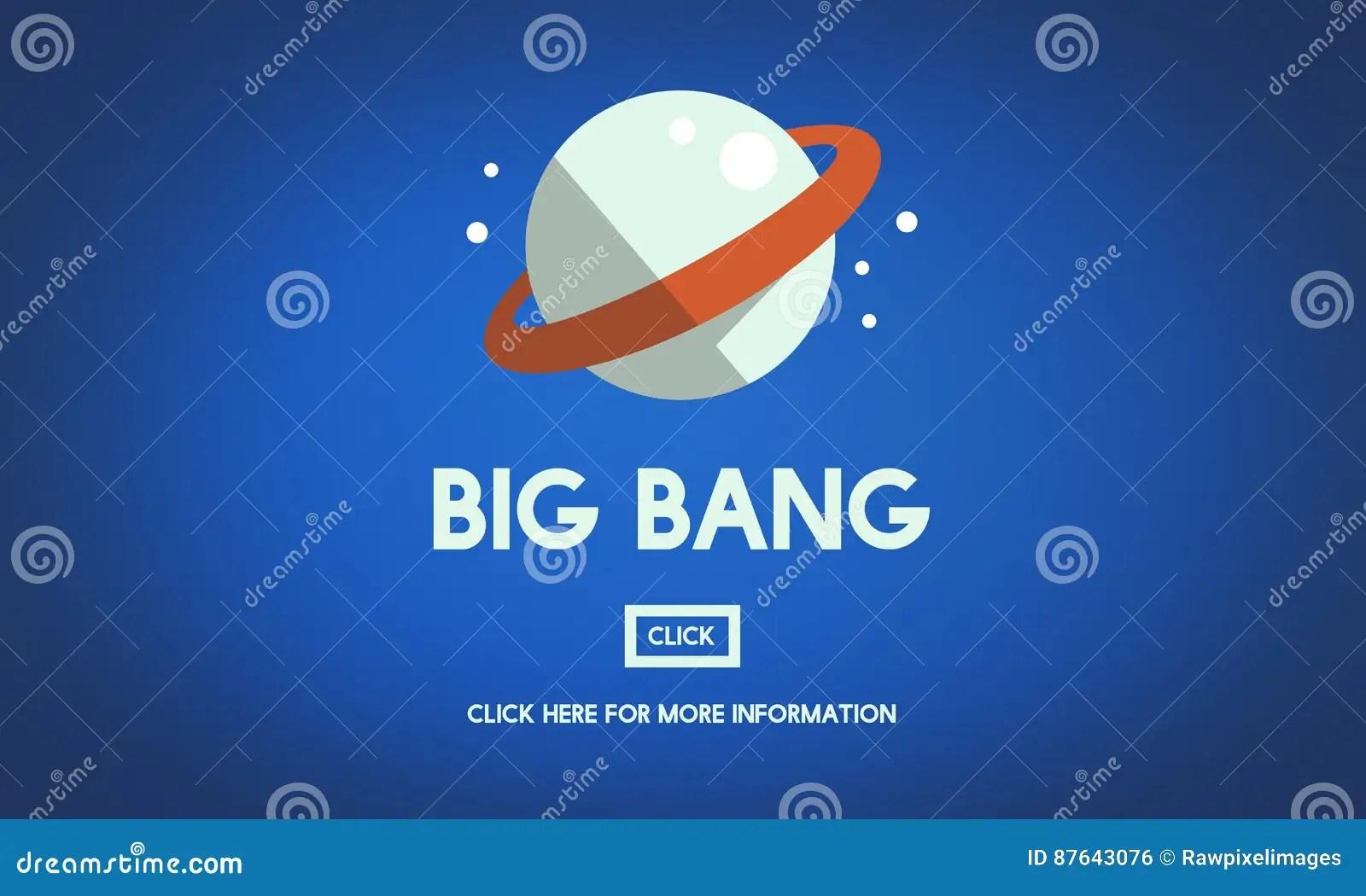 Astronomy Big Bang Planet Spaceship Concept Stock