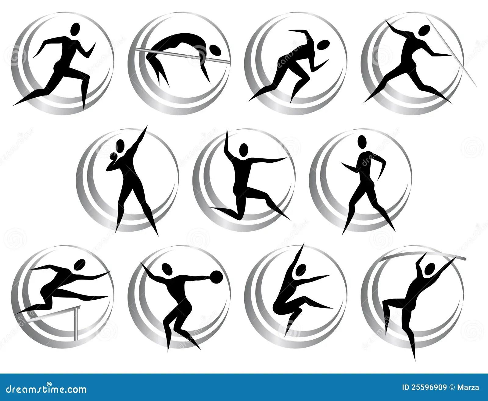 Athletics Symbols Royalty Free Stock Images