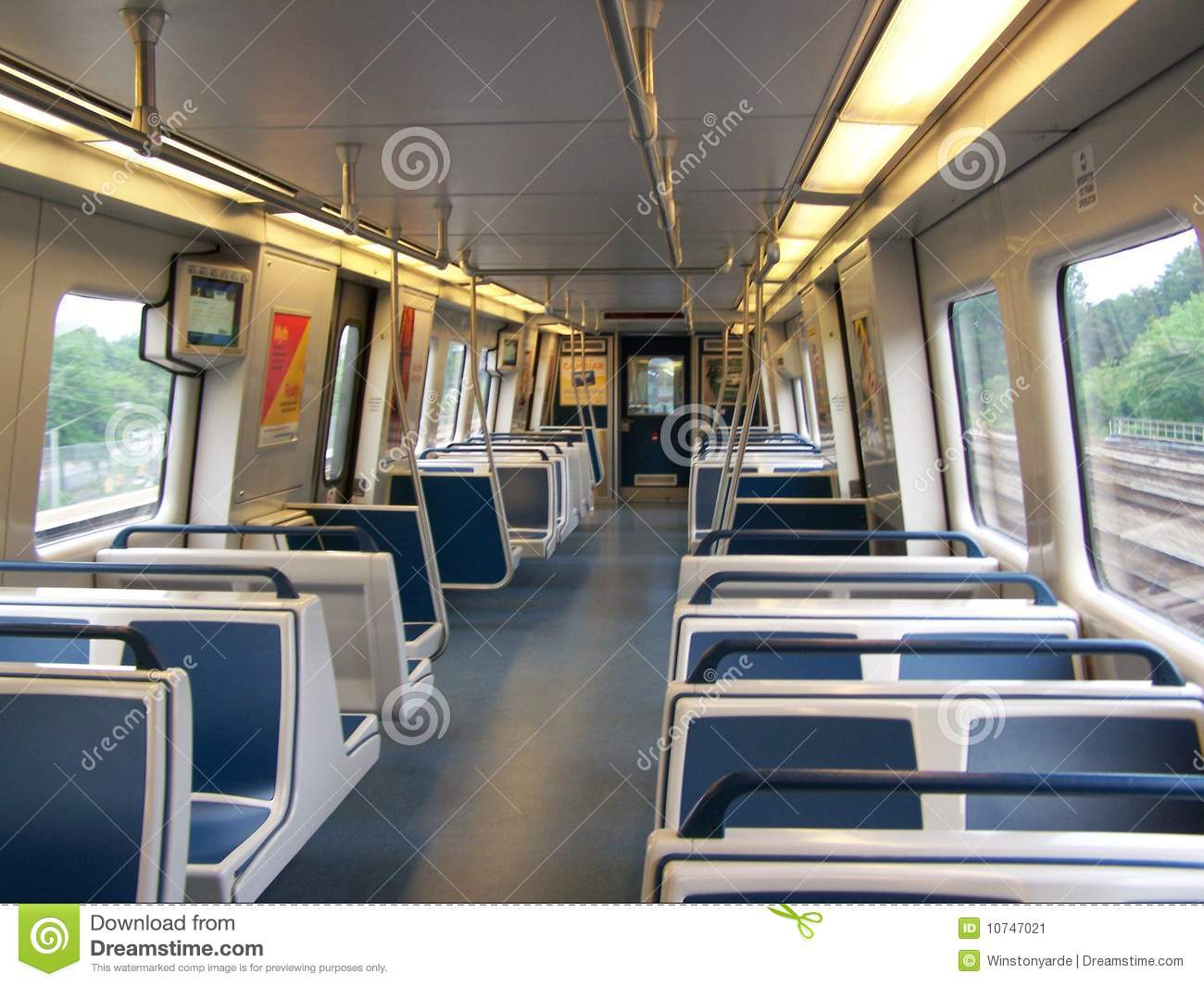 Atlanta Marta New Train Interior Stock Image Image 10747021