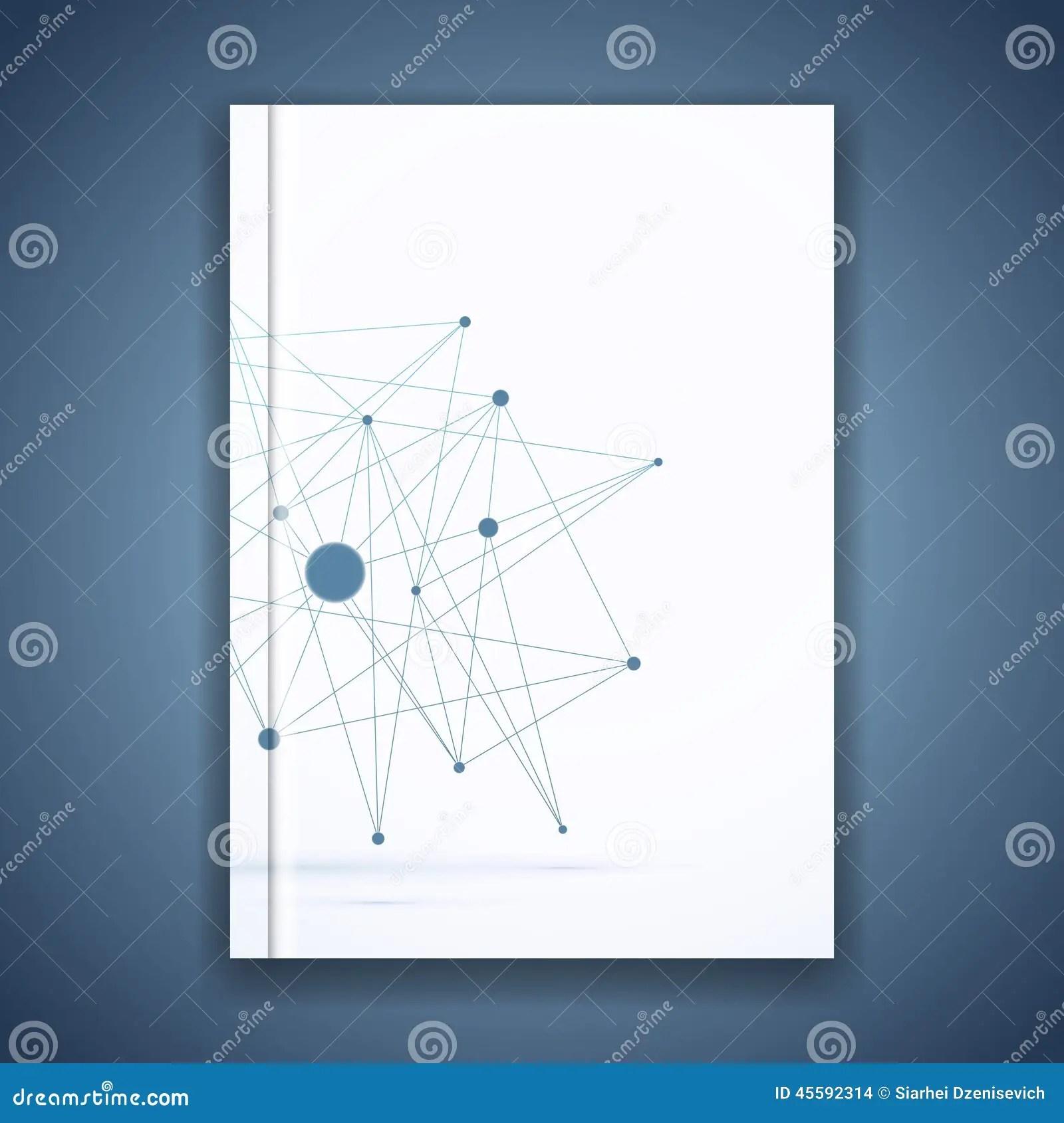 Atom Molecule Connection Idea Folder Template Stock Vector
