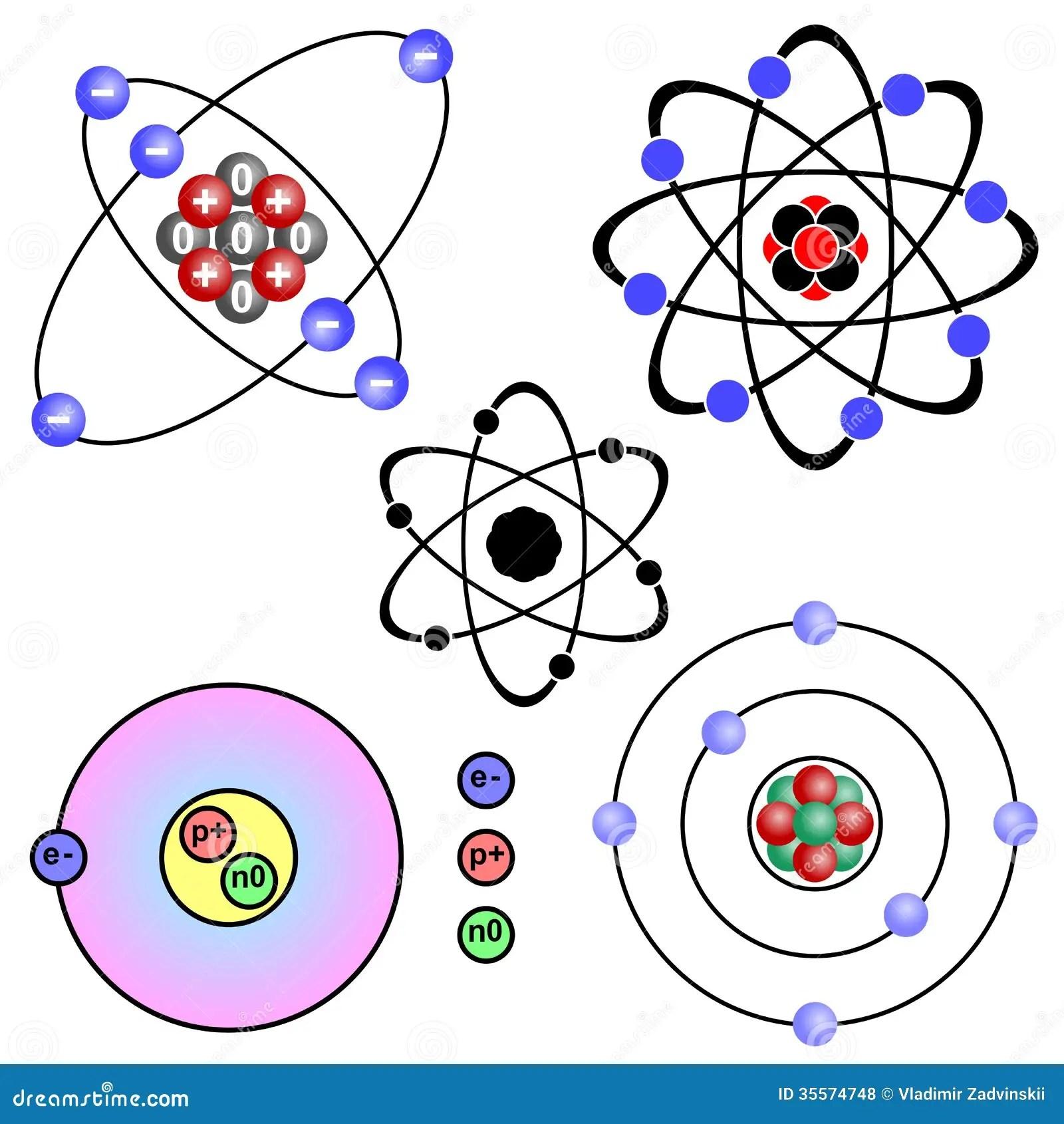 Atom Stock Vector Illustration Of Symbol Orbiting