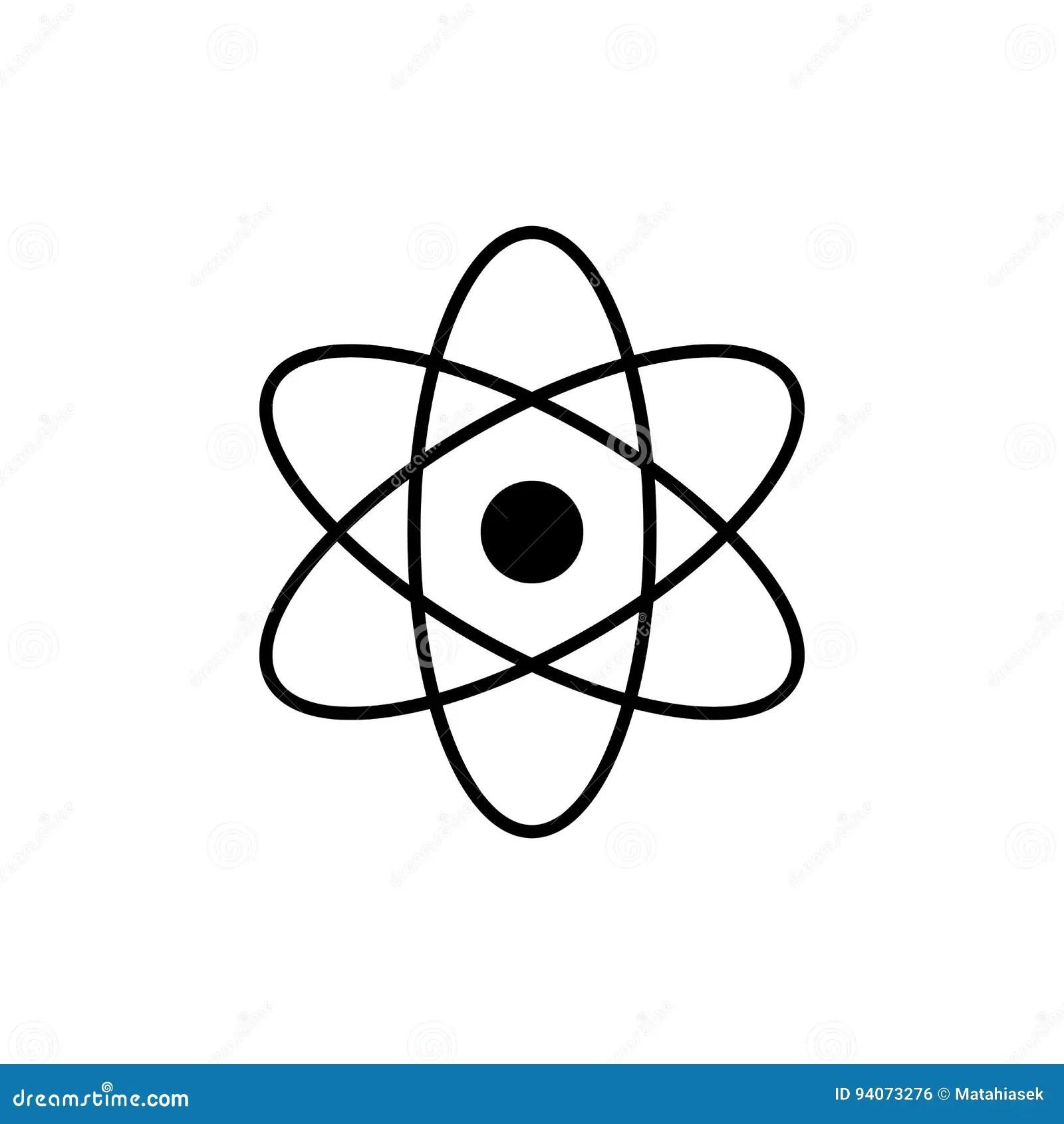 Atomlogo Wissenschaftszeichen Kernikone Elektronen Und