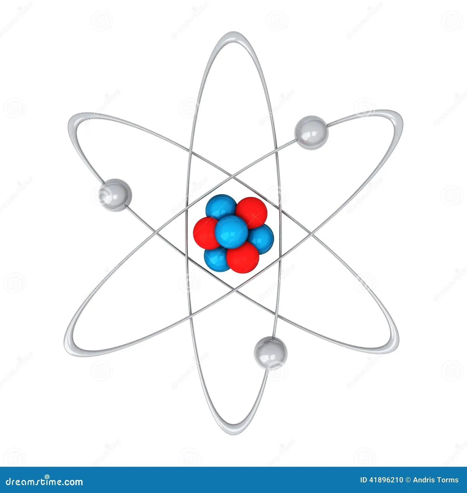 Atomo 3d Illustrazione Di Stock Illustrazione Di