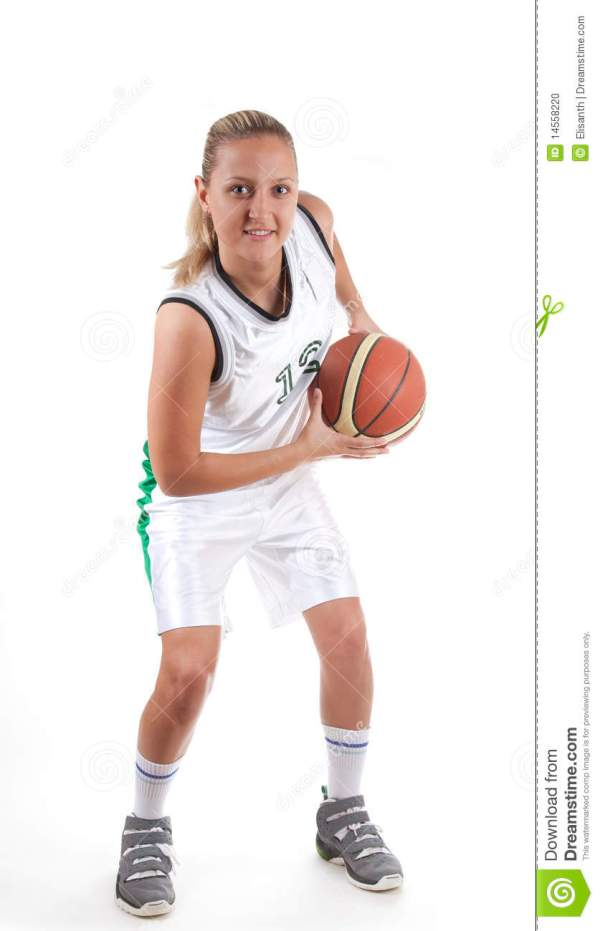 Attractive Female Basketball Player Stock Photo - Image ...