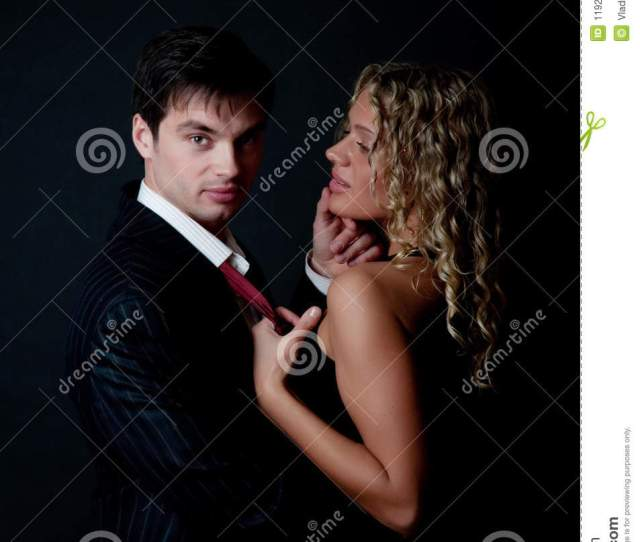 Attractive Woman Try To Seduce A Man