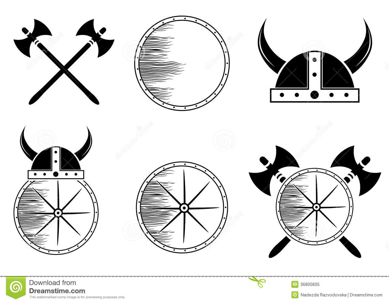 Attributen Viking Collection Vector Illustratie