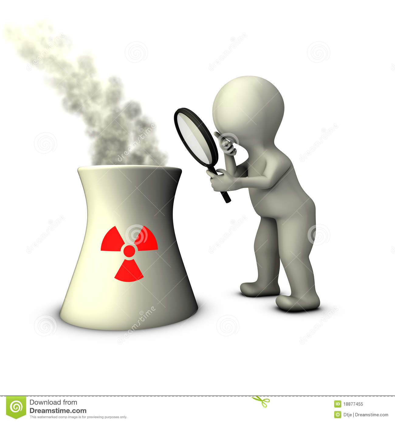 Audit Of Nuclear Power Plant Royalty Free Stock Photo