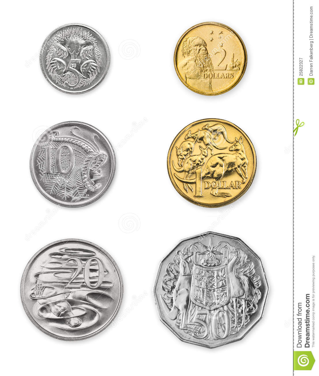 Australian Coins Stock Image Image Of Golden Commerce