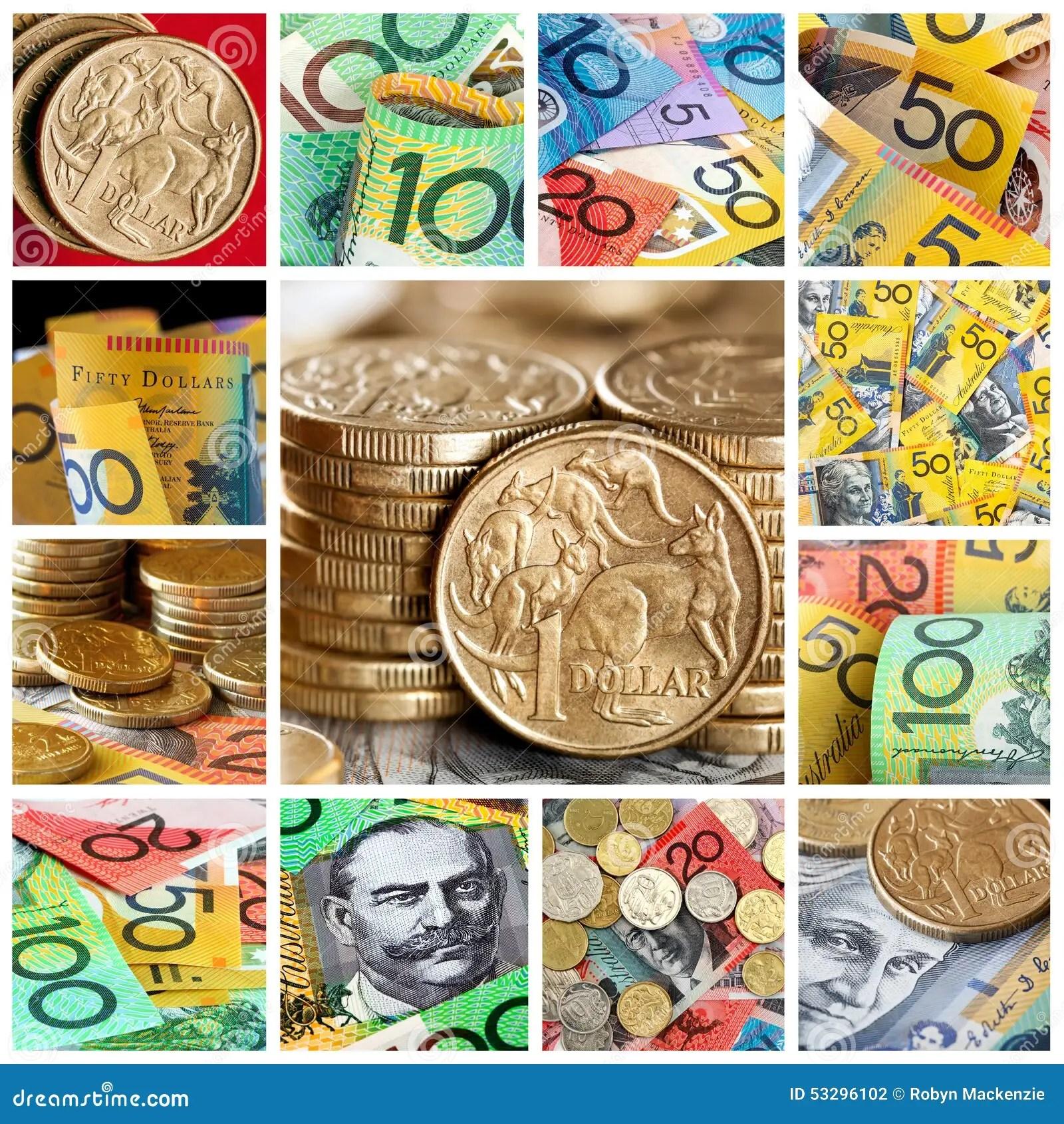 Australian Money Collection Stock Photo