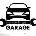 Auto Center Garage Service And Repair Logo Vector Template Stock Vector Illustration Of Abstract Graphics 71467306