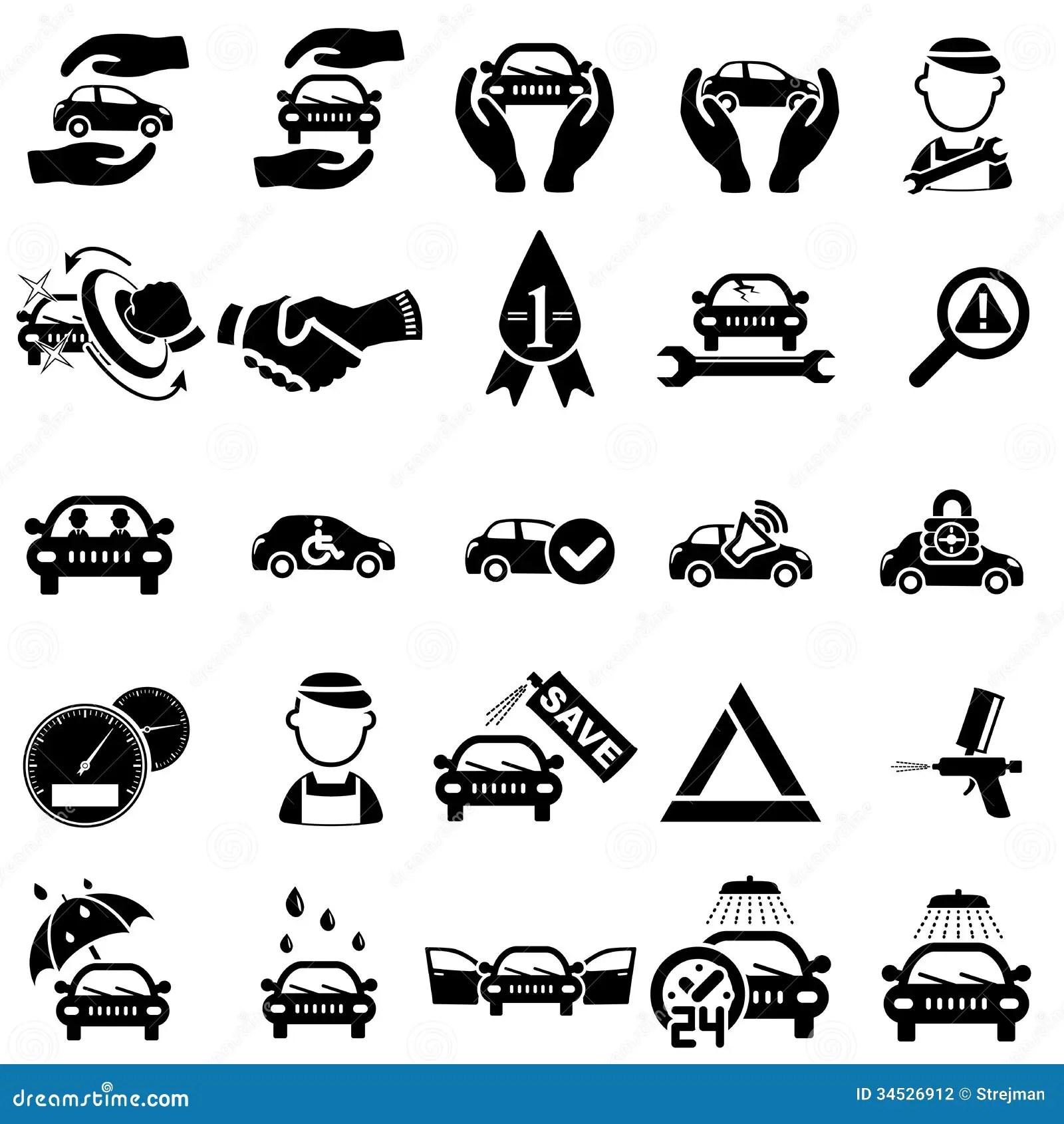 Auto Repair Icons Stock Vector Image Of Auto Mechanic
