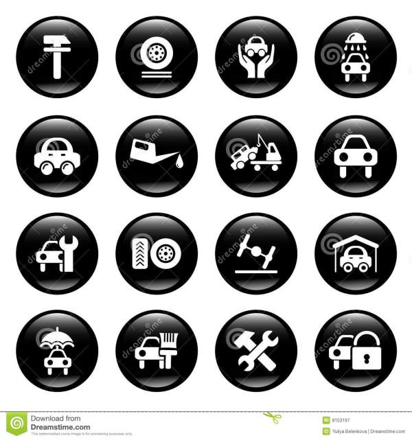 Auto Service Icons Royalty Free Stock Photography - Image ...