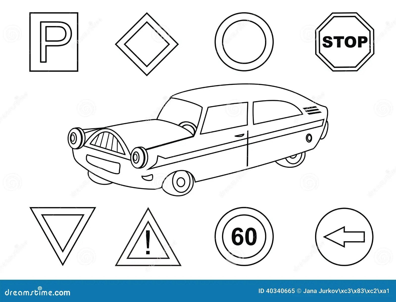 Auto Und Verkehrsschilder