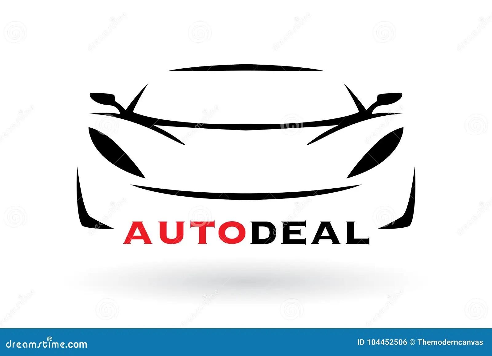 Sports Car Vehicle Silhouette Logo Design Stock Vector