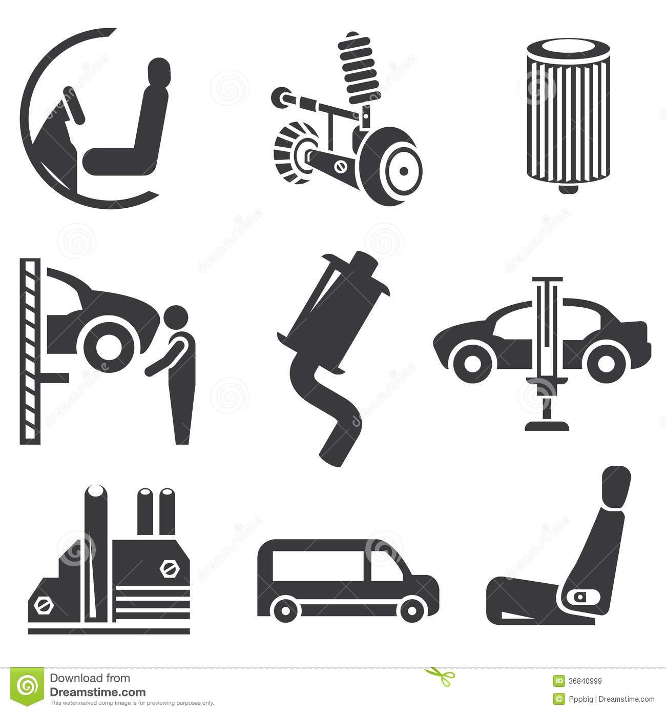 Automotive Icons Royalty Free Stock Images