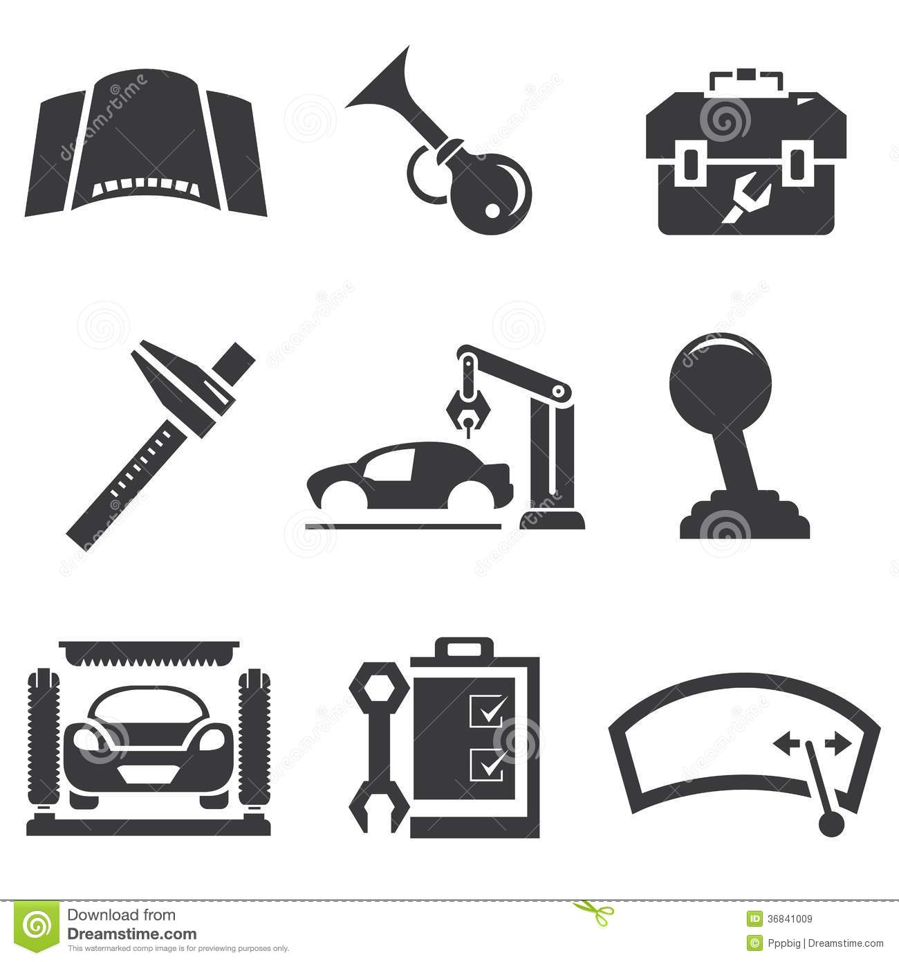 Automotive Icons Stock Illustration Image Of Operator
