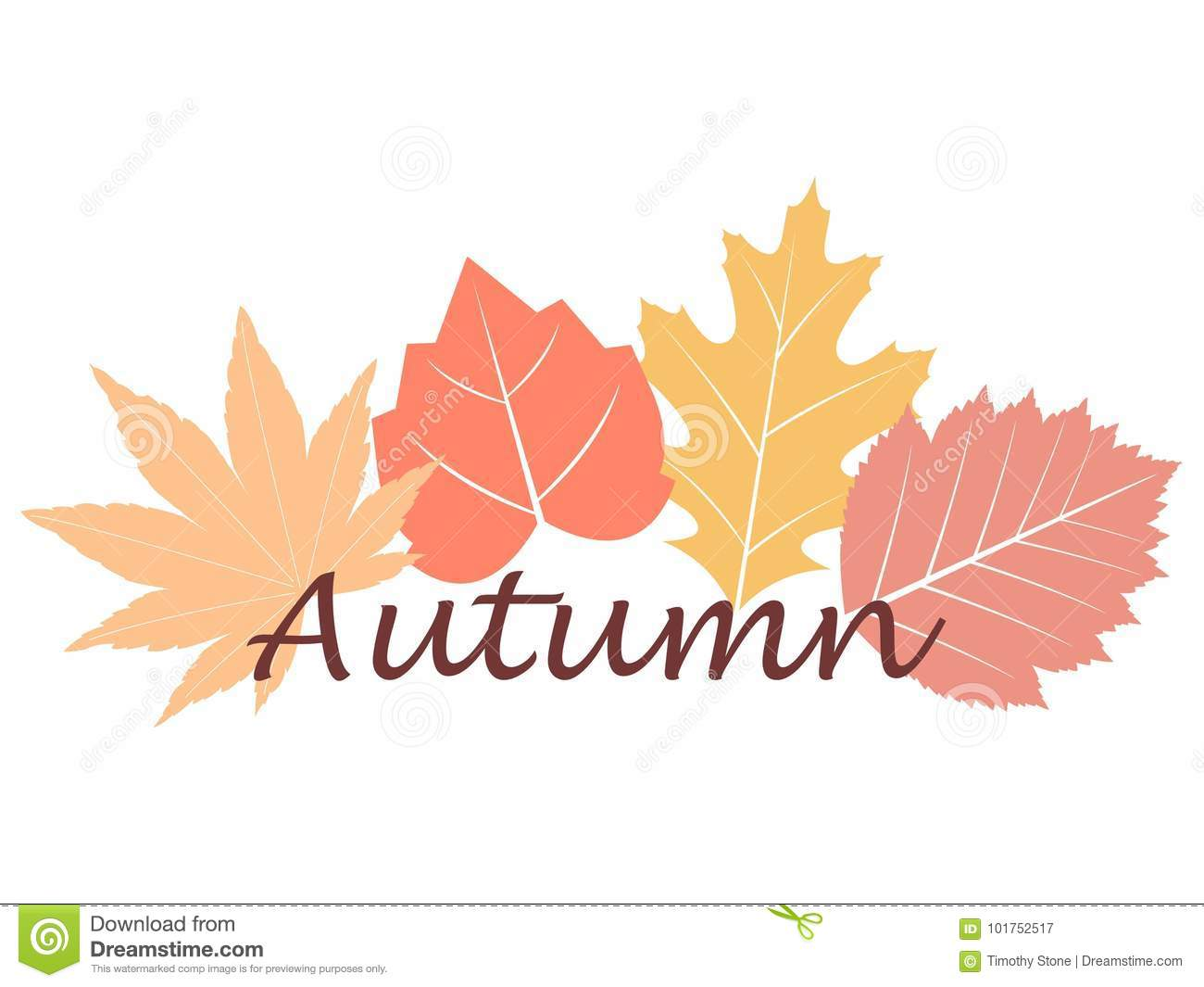Autumn Fall Writing Stock Vector Illustration Of