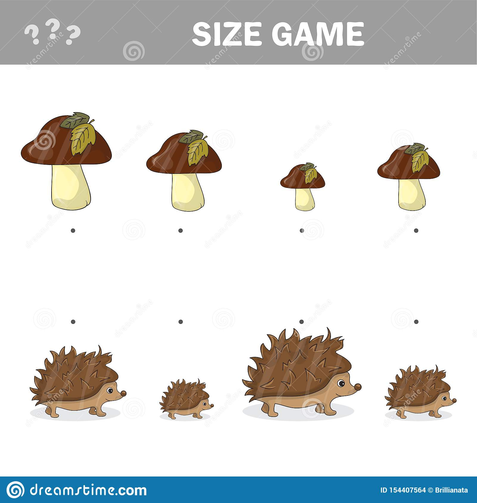 Autumn Matching Game For Children Connect Hedgehogs With