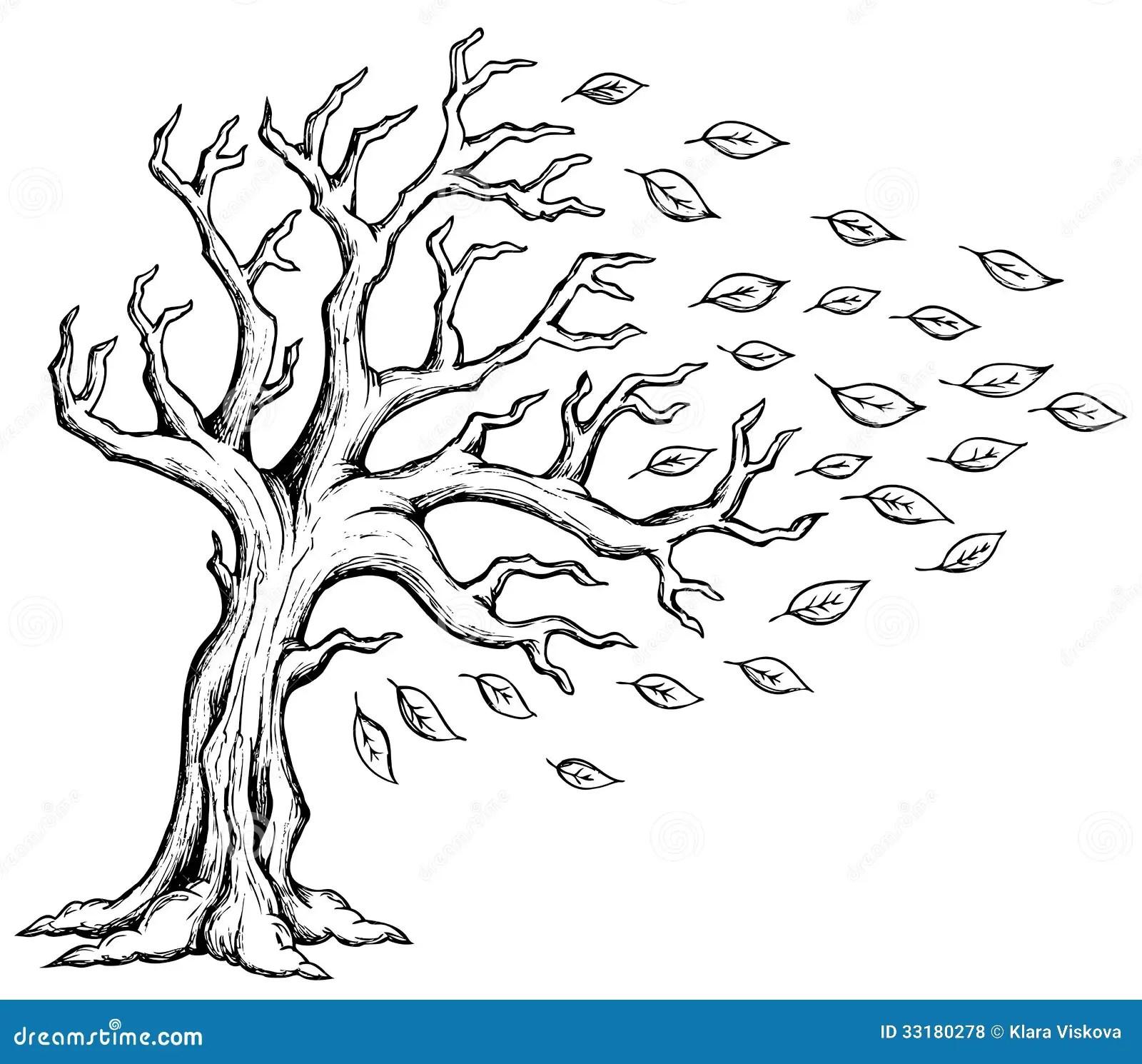 Autumn Tree Theme Image 2 Stock Vector Illustration Of