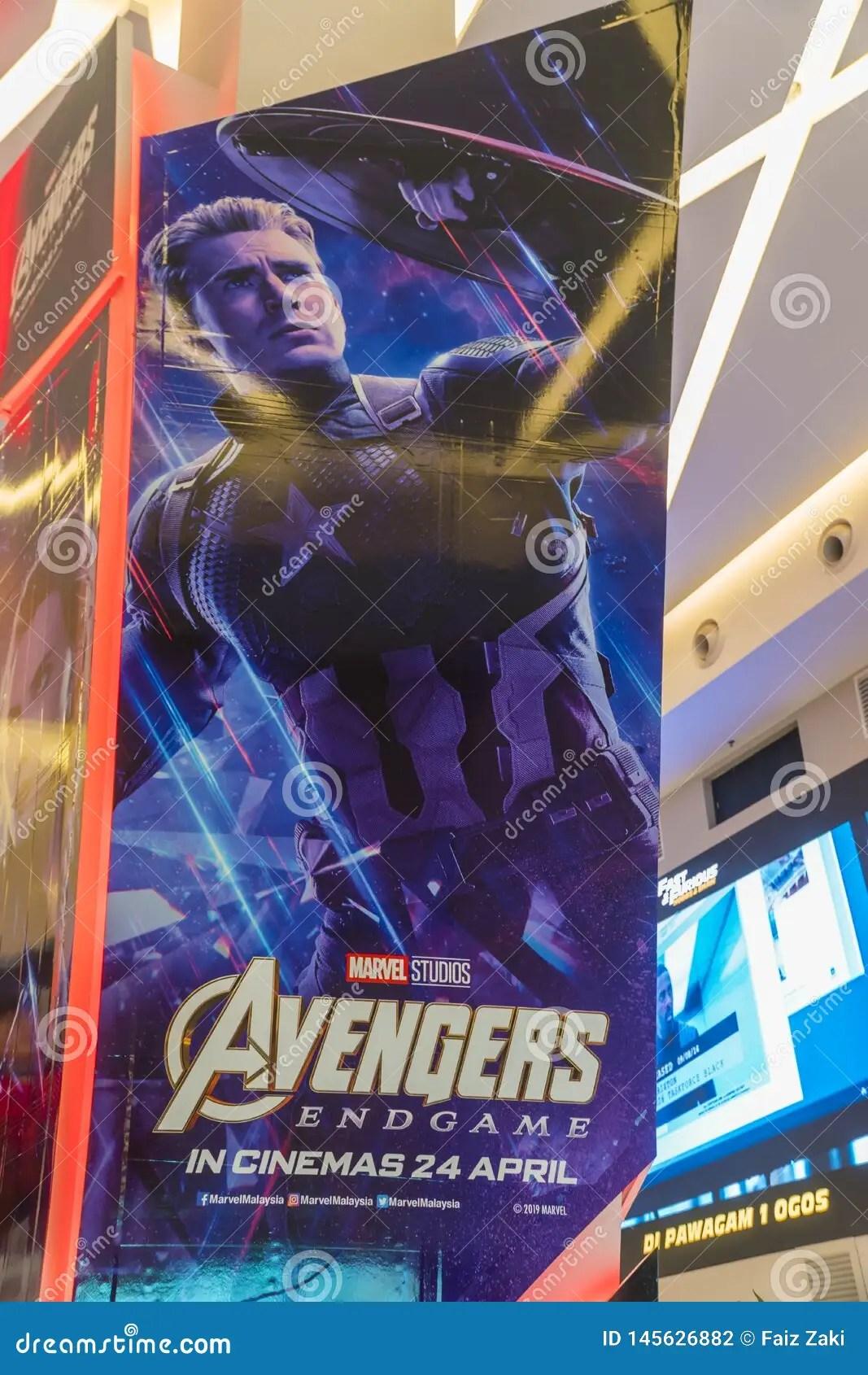 https www dreamstime com avengers endgame movie poster american superhero film based marvel comics superhero team kuala lumpur malaysia image145626882