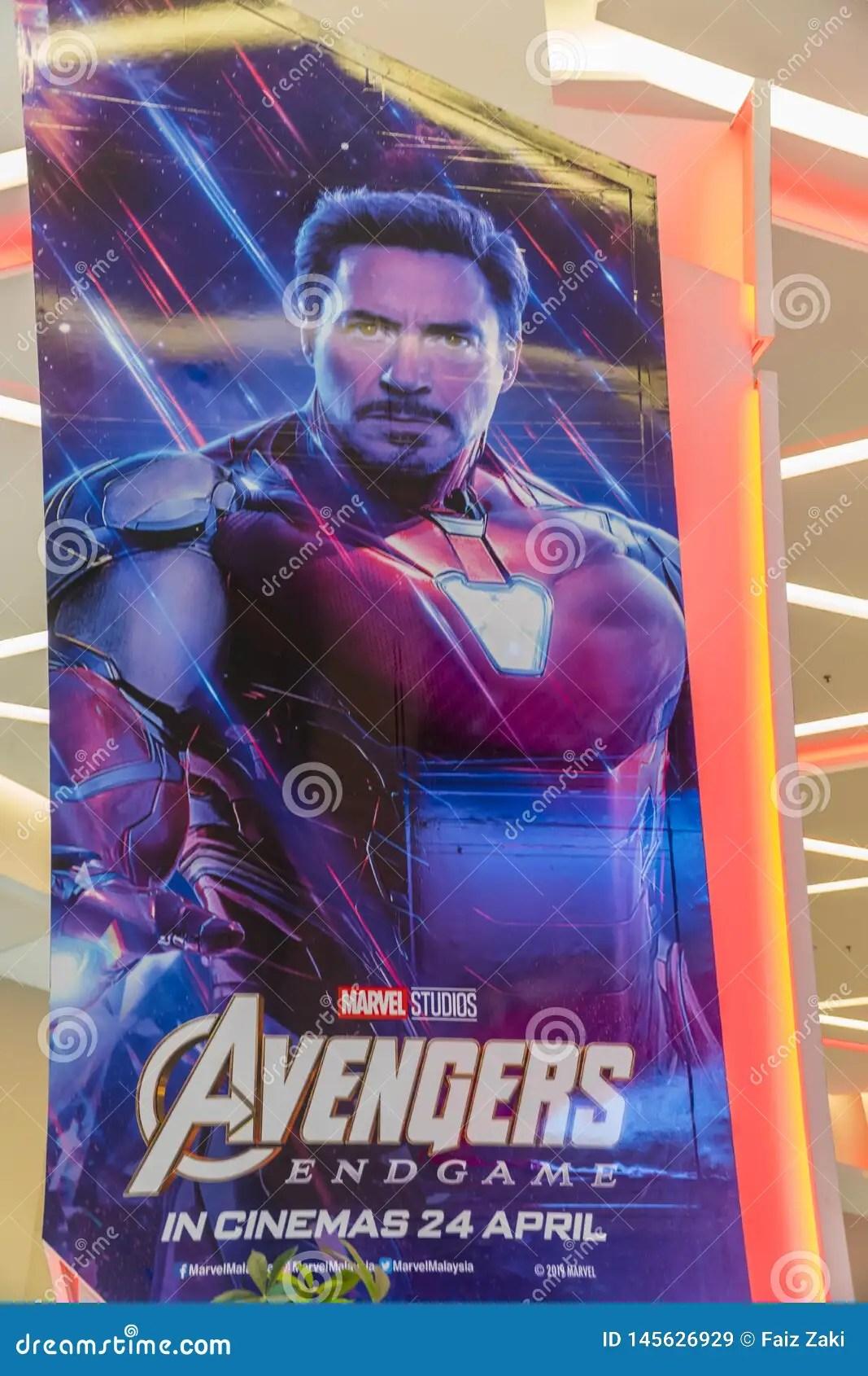 https www dreamstime com avengers endgame movie poster american superhero film based marvel comics superhero team kuala lumpur malaysia image145626929