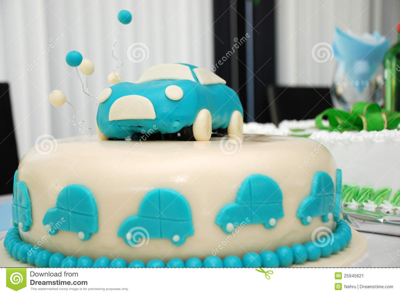 The barbie cake is designed to thrill. Baby Boy Blue Birthday Cake With Car Stock Image Image Of Candle Cake 25945621