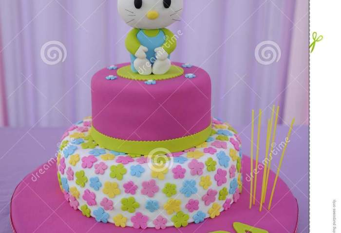 Baby Girl Cake For Birthday Editorial Photo Image Of Food