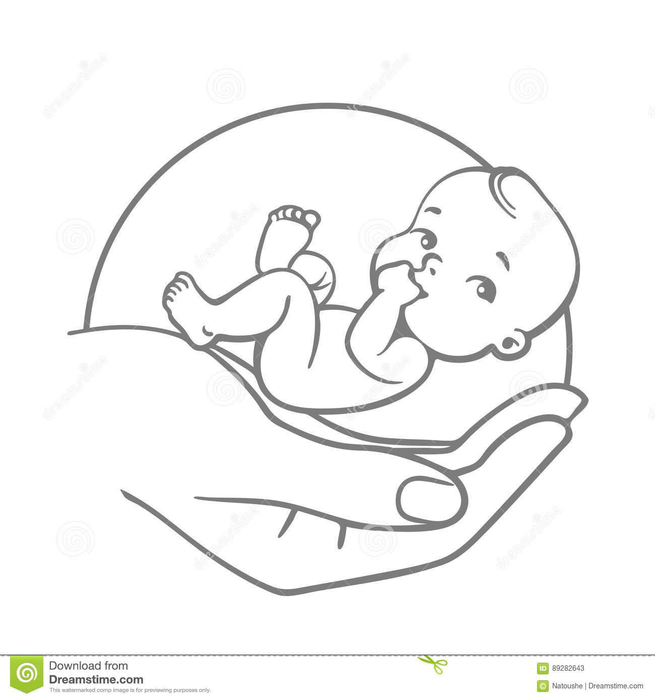 Baby Care Logo Stock Vector Illustration Of Design
