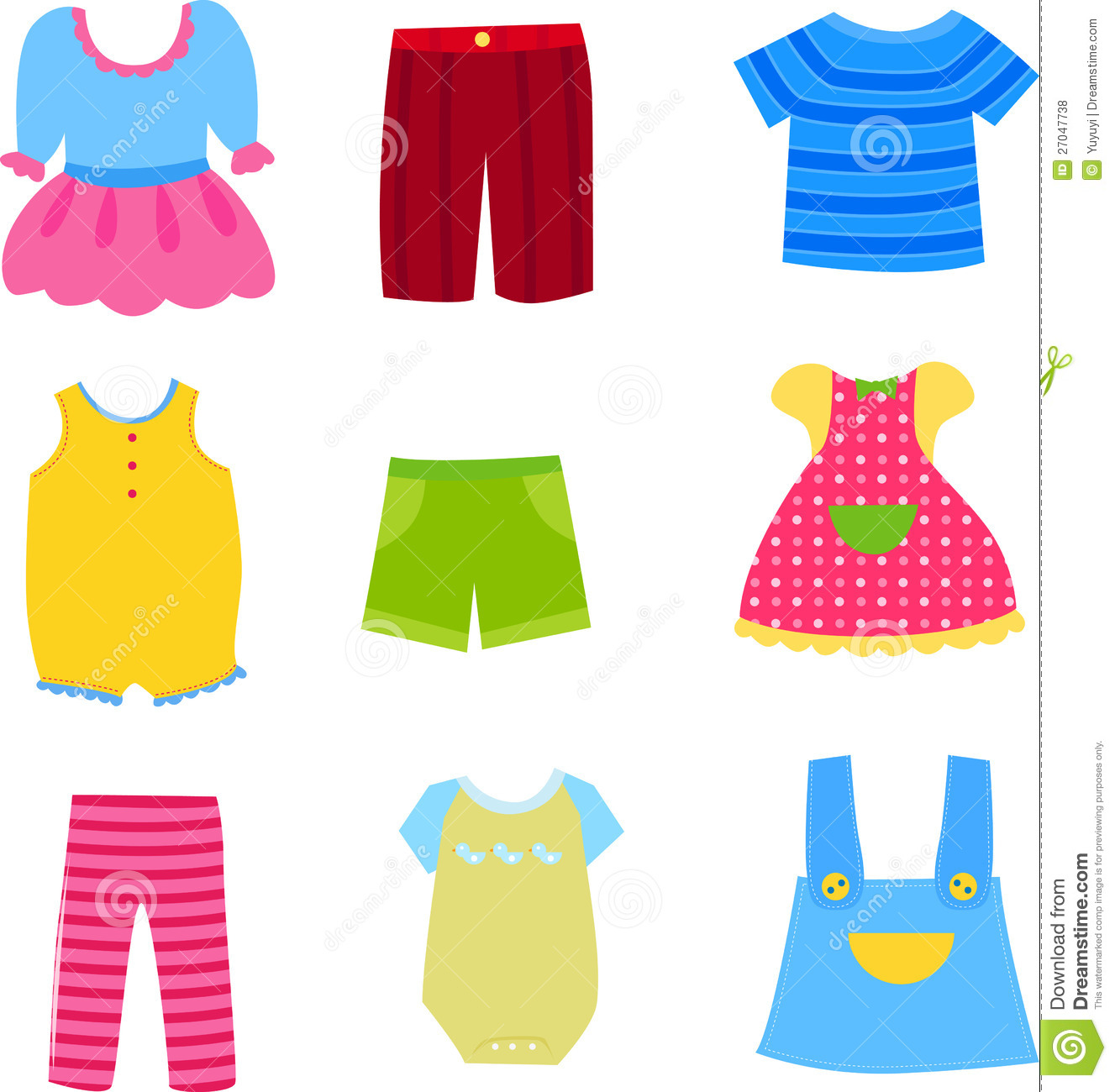 Toddler Clothes Clip Art Cliparts