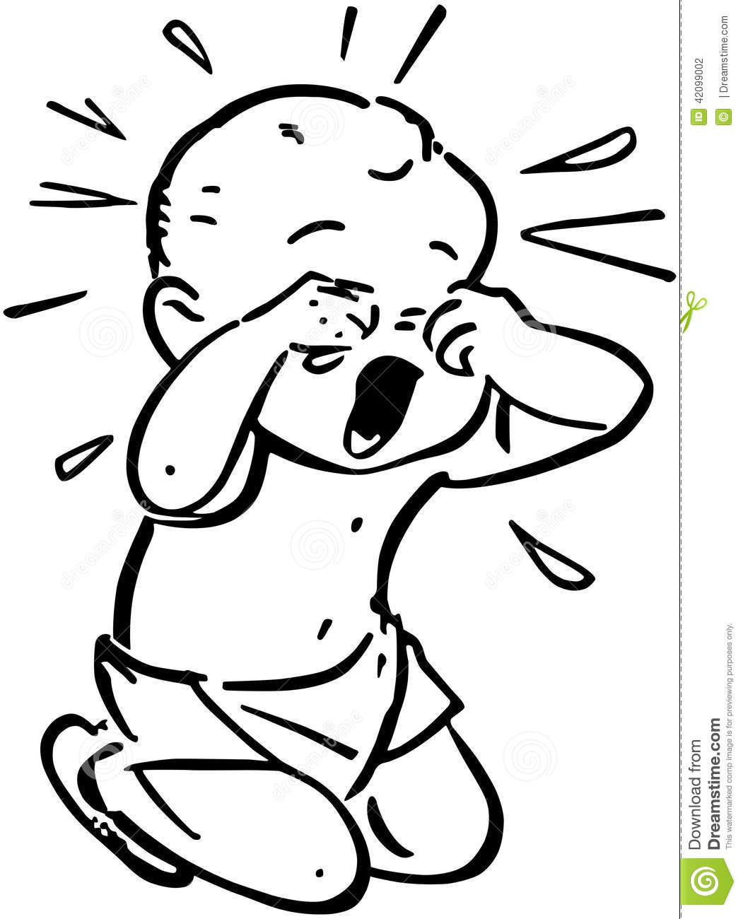 Baby Crying Stock Vector Illustration Of Whining Screams
