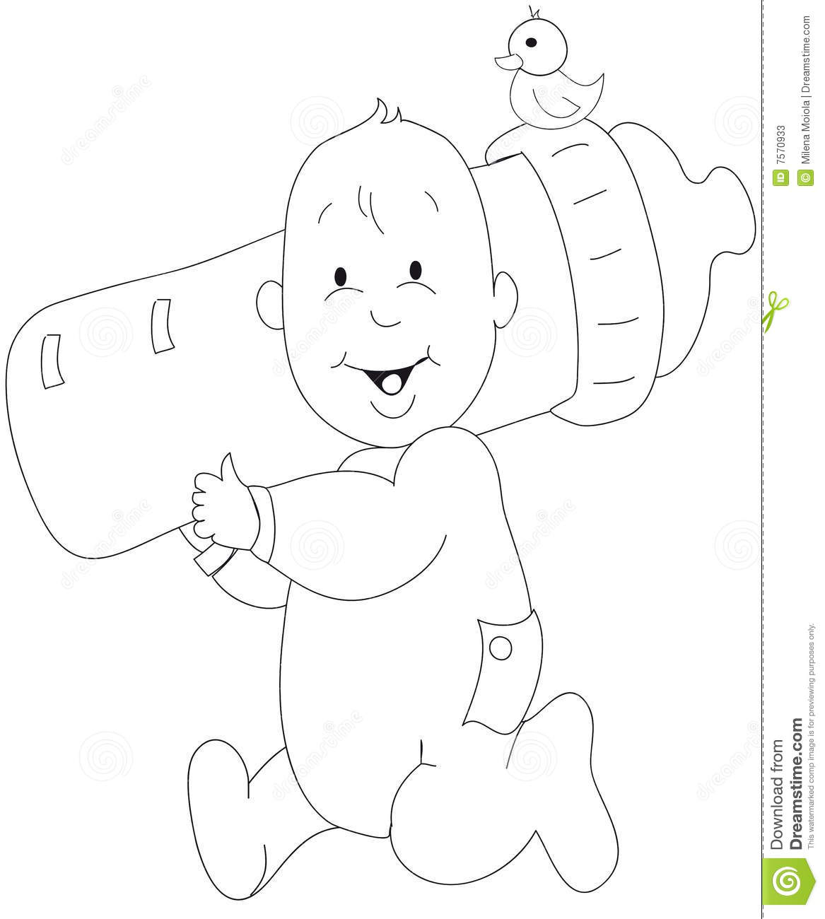 Baby Illustration Stock Photos