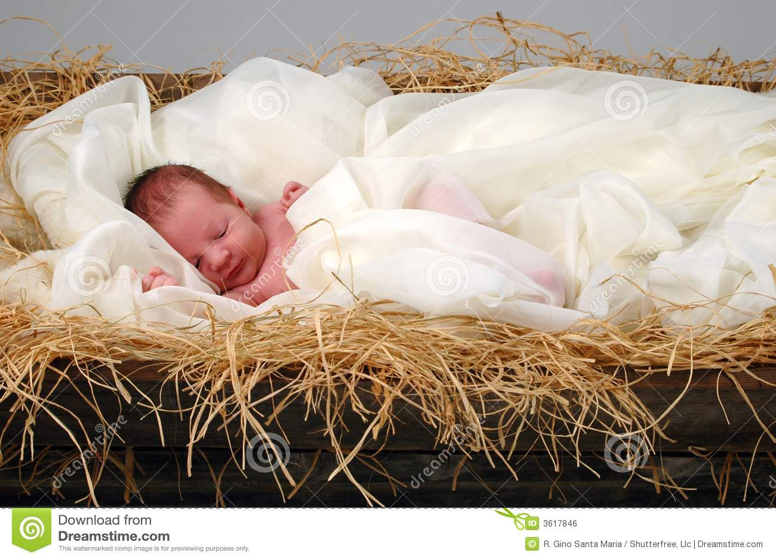 Pictures Jesus Manger Baby Santa