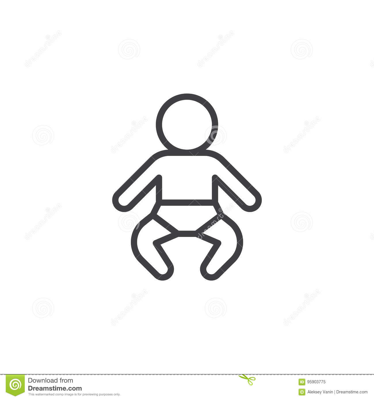 Baby Outline Stock Illustrations 23 265 Baby Outline