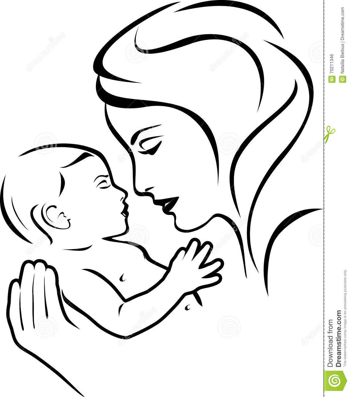 Baby Care Motherhood And Childbearing Mother Sign Cartoon Vector