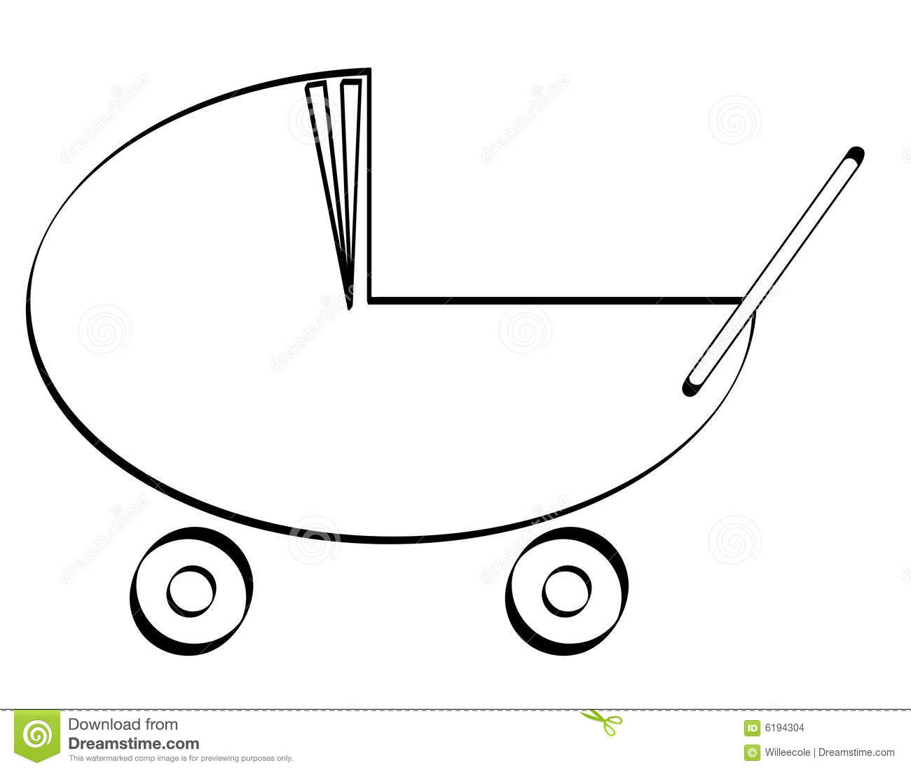 Baby Pram Buggy Or Stroller Stock Images