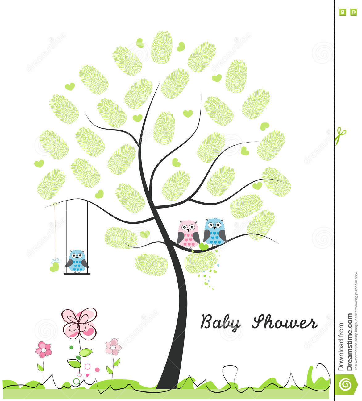 Baby Shower Greeting Card Baby Boy Baby Owl Owl Family