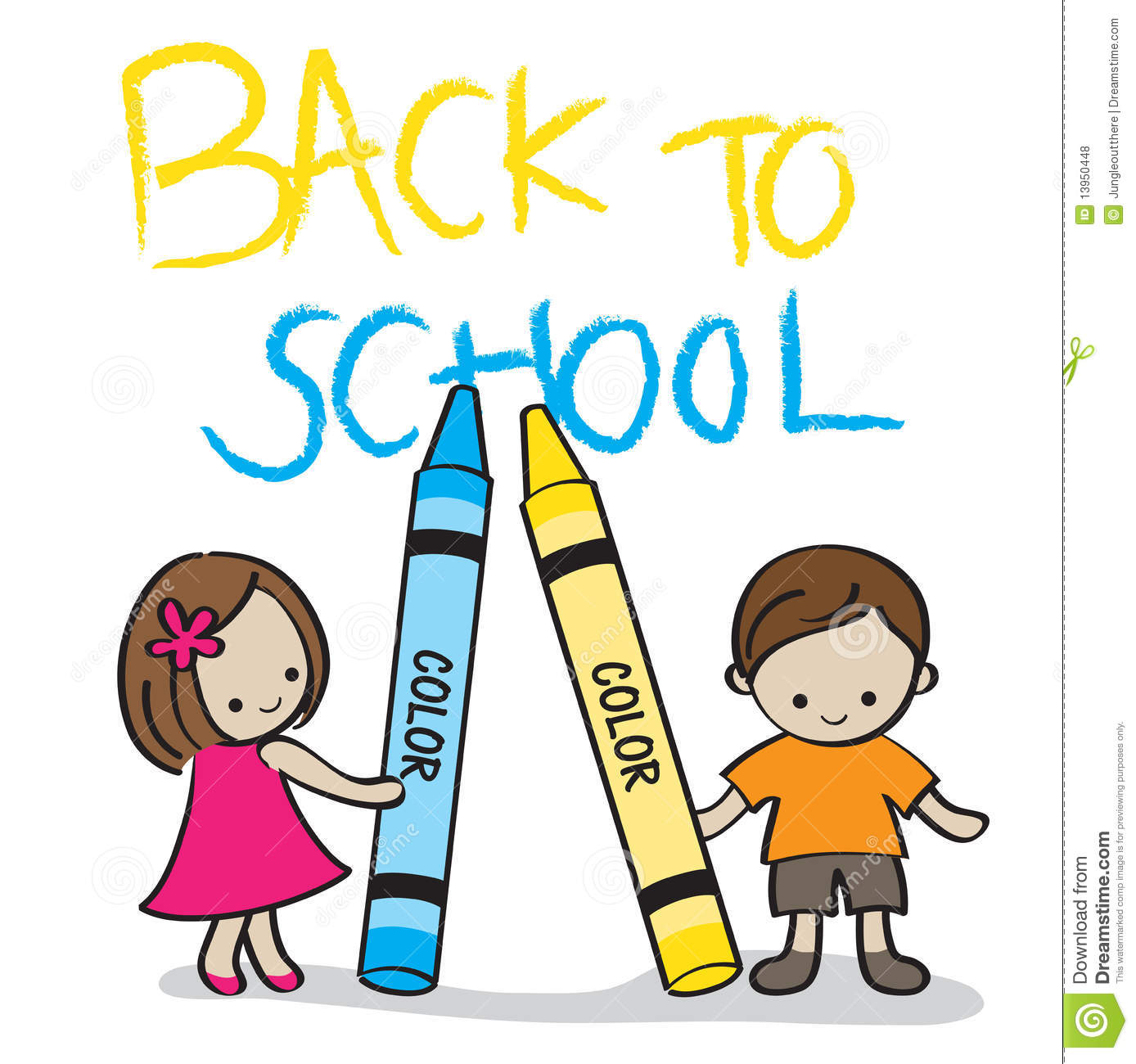 Back To School Kids Stock Vector Illustration Of Crayon