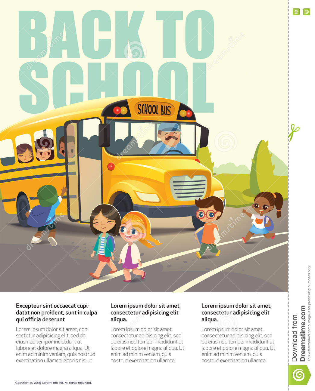School Bus Safety Stock Photography