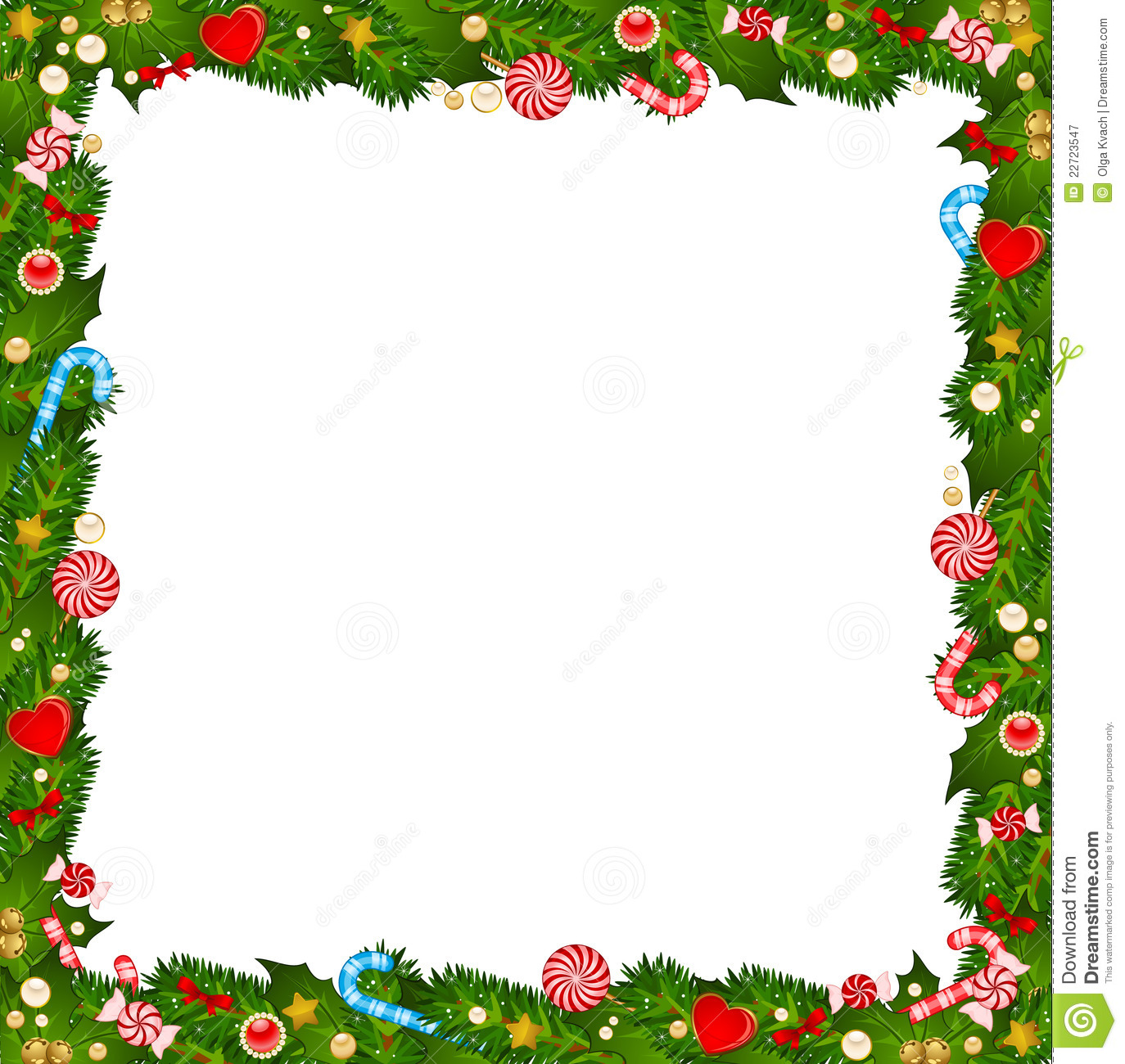 Background With Candy Cane Stock Vector