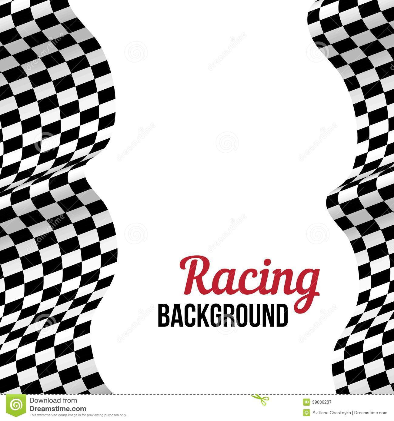 Background With Checkered Racing Flag Stock Vector