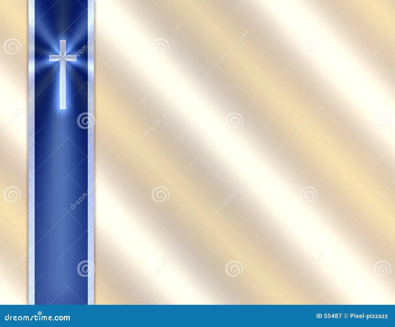 Cross Wallpapers Free: Blue Funeral Program Borders