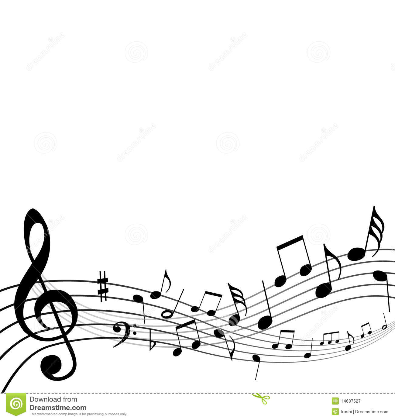Background Music Notes Stock Vector Illustration Of