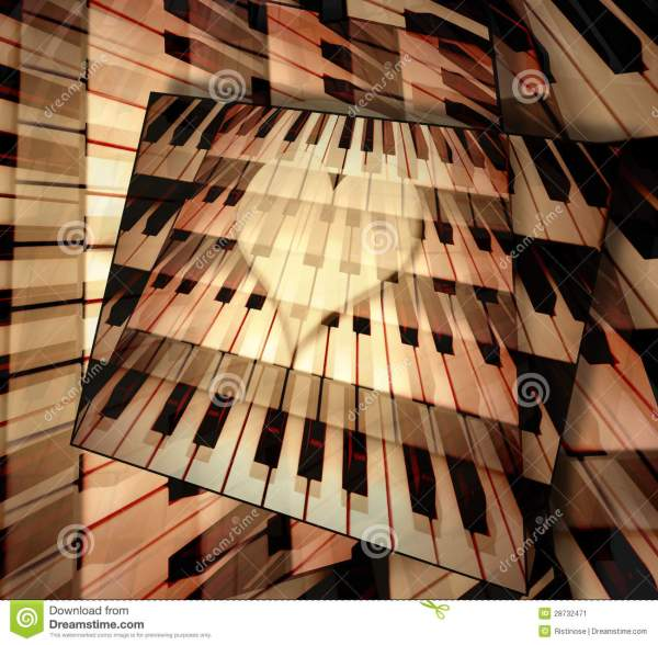 Background Piano Music Of Love Stock Image - Image of ...