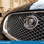 Badge Of The Jaguar Automotive Company On A Black Jaguar Xf Car With Modern Chrome Grill Parked In A Historical Centre Of A City Editorial Photo Image Of Display Black 170582571
