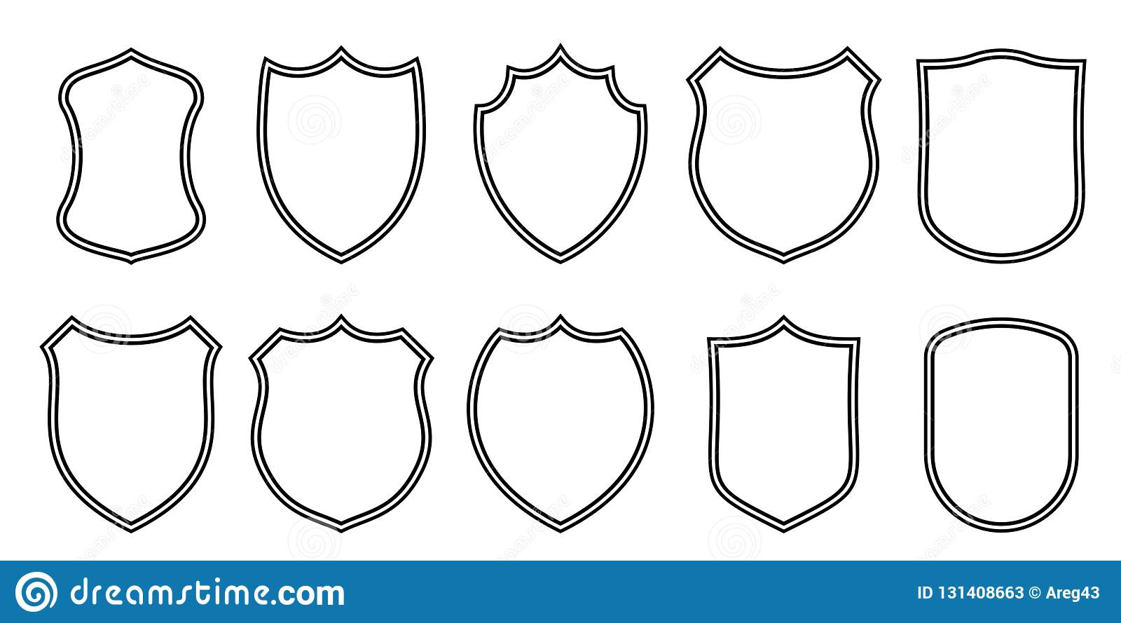 Badge Patches Vector Outline Templates Sport Club