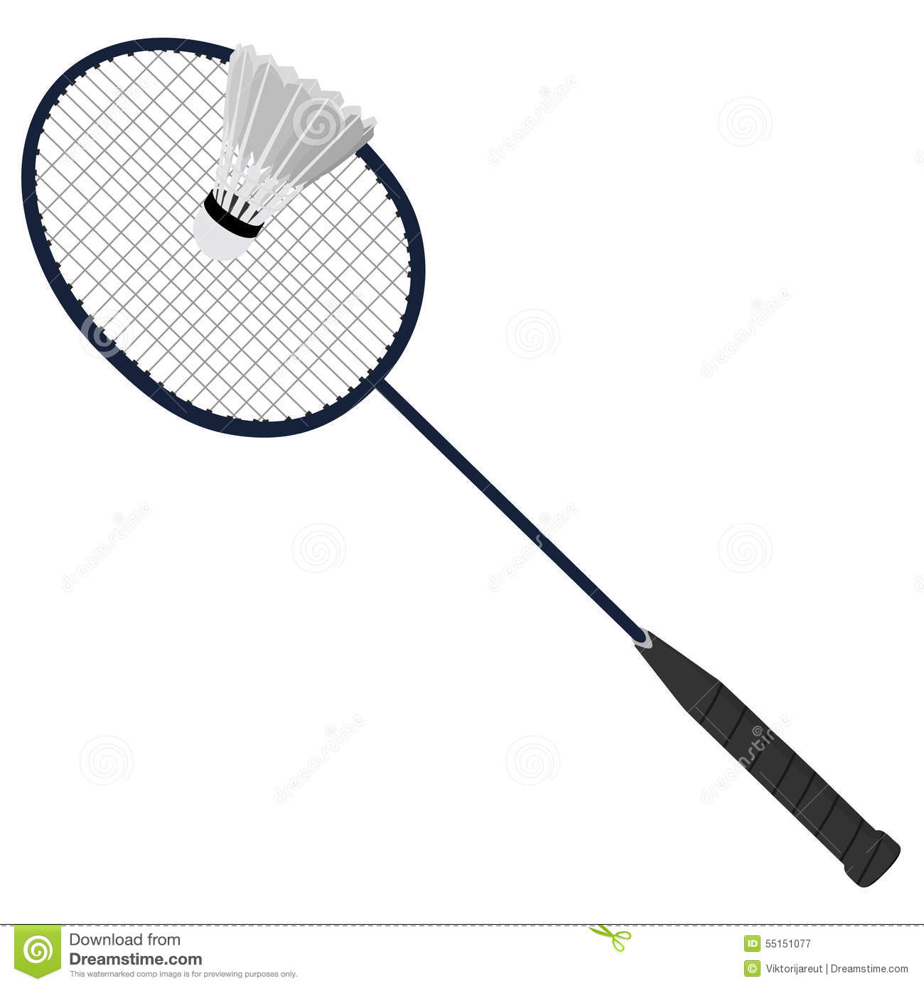 Badminton Racket And Shuttlecock Stock Illustration